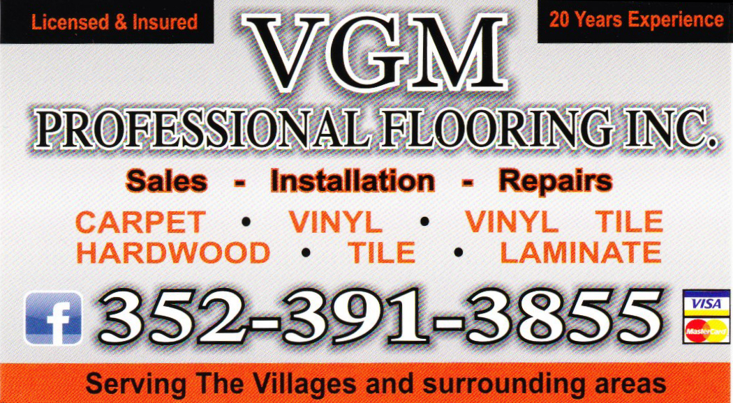 VGM Professional Flooring Business Card